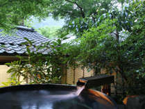 @【夕暮れ時の露天風呂】お風呂と澄んだ空気にリラックス…。