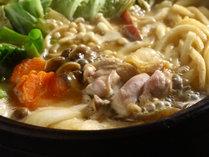 【味噌鍋】無添加の自家製味噌を使った野菜・地鶏たっぷりの味噌鍋。大原名物として当宿から広がりました。