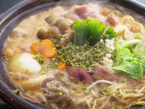 【3年物味噌の味噌鍋】じっくり煮込んでも塩辛くならない!熟成した3年物味噌鍋の特徴が活きています。