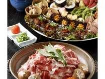 めん坊川床「皿鉢料理と陶板焼き」