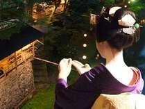 川床料理と舞妓の京舞で古都の夏を満喫