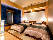 【酔帆楼-露天風呂付客室】-和風ツイン302-露天風呂付客室で唯一の『2名専用客室』