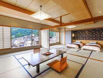 【二間客室】大人数でのお寛ぎが可能な『二間客室』大人数で余裕を持った空間でのご滞在に最適です