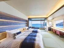【最上階プレミアムコーナーツイン】ただただ、瀬戸内海の風景に身を馳せる。ワンランク上の至福のひととき