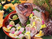 """お料理に""""新鮮なお刺身""""を重視したいという方に!鮮度抜群!『当館厳選の旬魚』をたっぷりと。"""
