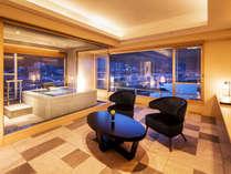 【ビューバス付セミスイート-410号室】穏やかな港町の風景をすぐそばに。気兼ねない湯の贅をお楽しみ下さい