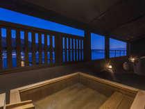 【酔帆楼-露天風呂付客室】-和洋室301-客室露天風呂