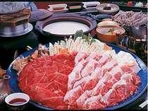 【基本プラン】朝夕個室で食べ放題と無料貸切風呂 牛肉豚肉しゃぶしゃぶ・うどん・お野菜まで食べ放題♪