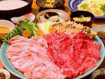 【基本プラン】朝夕個室で食べ放題と無料貸切風呂(平日限定) 牛豚肉しゃぶしゃぶ・うどん野菜食べ放題♪