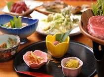 地物の食材を使った自慢の料理 (季節により一部料理が異なります)