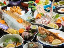 天然魚と活きイカ会席
