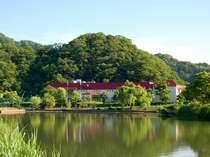 円山川のほとり