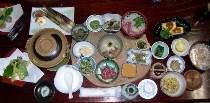 山菜と川魚料理(私達夫婦が1番頑張ってきたメニュー)ご賞味下さい