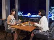 庭園イルミネーションを眺めながらお食事をお楽しみ下さい♪