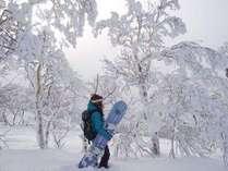 雪の華を歩く