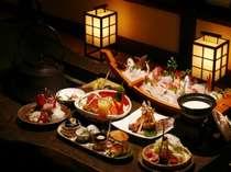 駿河湾産海の幸プランの料理一例