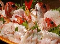 【夕食】地ものを集めた旬の舟盛り