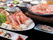 蟹フルコースほど食べられないけど、蟹の美味しさを楽しみたい!との要望にお応えしたコースです。