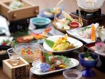 島根の食材が詰まった会席料理。一品一品丁寧に手作りします(写真は一例)