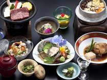あわび、のどぐろ、島根和牛、石見を代表する高級食材三つ揃え。量より質で勝負。
