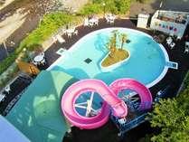 【夏季限定】【7月中旬~8月下旬オープン】 ウォータースライダー付屋外プール