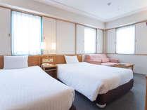 【ツイン】広さ:24.6平米 / ベッド:125cm幅×2幅