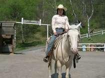 ウェスタン乗馬を体験する
