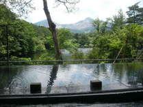 裏磐梯高原ホテル「四季の湯」磐梯山の眺めが最高です。