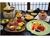【29冬限定雅彩会席】「山形牛カットステーキとアワビ&トリュフ」と「熱々そばがき鍋」