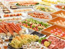 ずわい蟹・寿司・牛タン・天ぷら等が食べ放題の和洋中バイキング♪いっぱい食べよう♪/イメージ