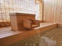 天然温泉の客室露天風呂