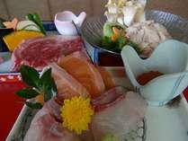 信州の限定食材・信州和牛・信州地鶏・信州サーモンどれも貴重な食材です