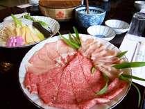 《春限定》 山菜料理&2種肉(飛騨牛と地元岩村産豚肉)のしゃぶしゃぶ食べ比べプラン♪