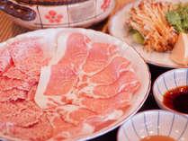 【岩村山荘◇春グルメ】飛騨牛と寒天育ち豚のしゃぶしゃぶ鍋&木の芽田楽で春の香りを愉しんでや!