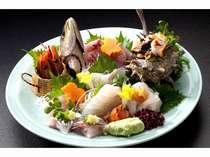 【夕食】地魚海鮮プランの地魚盛り合わせ(一例/日により献立が異なります)