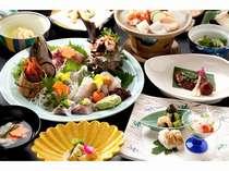 【夕食】地魚海鮮プランのお料理(一例/日により献立が異なります)