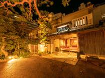 山木旅館 外観(夜)