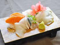 【ご夕食一例】松川鰈など旬の刺身盛合わせ