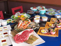 【いさり火会席】「国産牛ロース」や「タラバガニ・アワビ・旬魚」など豪華素材の鉄板焼き