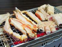 【さんさ亭本館】春<網焼き会席>『タラバとズワイWガニの網焼き』と『牛フィレ朴葉焼き』