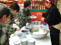 レディースDAY限定イベント♪朝食に餅つきサービス!ずんだ、あんこ、きなこ、くるみ、ゴマ餡など。