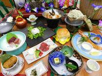 【夏 旬彩会席】「牛の陶板焼き」と「海鮮ブイヤベース風鍋」