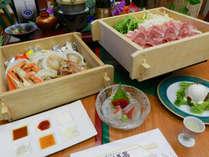 【青龍会席】「牛&国産豚」と「カニ・海老・ホタテ・旬魚」のセイロ蒸し