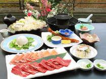 【夏 雲流会席】国産牛と豚の焼きしゃぶ ※写真の大皿料理は2人前です
