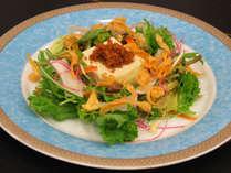 蔵王豆腐の仙台肉味噌サラダ