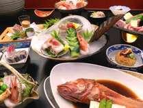 料理長自信の特別会席「吉次」「松茸」「牛」旬魚のお造り」かんなづき会席