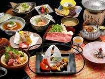 季節の和会席一例~神戸牛しゃぶしゃぶ付きの12品