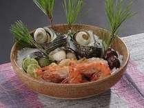 海の幸も楽しみたい方に◆淡路島の郷土料理「宝楽焼」×御苑自慢のA4ランク和牛しゃぶしゃぶ付会席プラン