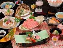 季節の和会席一例~神戸牛しゃぶしゃぶをメインにたっぷり12品