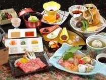 量より質重視~特選神戸牛ステーキや厳選造り7種盛を含む全9品の精選少量会席